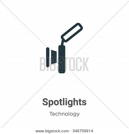 Spotlights icon isolated on white background from technology collection. Spotlights icon trendy and