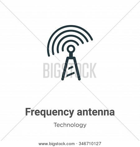 Frequency antenna icon isolated on white background from technology collection. Frequency antenna ic