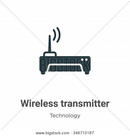 Wireless transmitter icon isolated on white background from technology collection. Wireless transmit