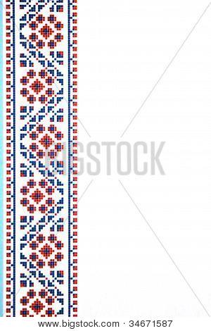 Ukrainian ornament on white background vertical