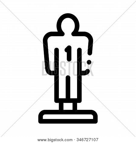 Player Figurine Icon Vector. Outline Player Figurine Sign. Isolated Contour Symbol Illustration