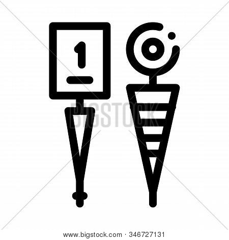 Championship Cup Icon Vector. Outline Championship Cup Sign. Isolated Contour Symbol Illustration
