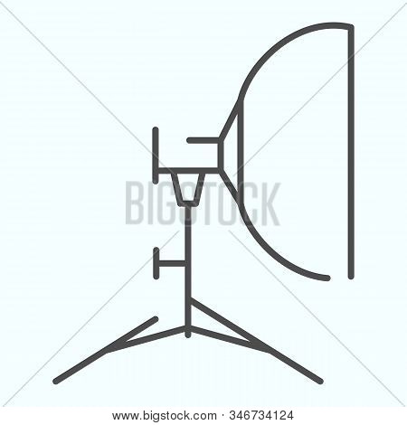 Floodlight Thin Line Icon. Lamp To Power Light For Photography Vector Illustration Isolated On White
