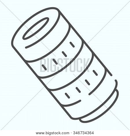 Professional Camera Lens Thin Line Icon. Camera Objective Vector Illustration Isolated On White. Pro