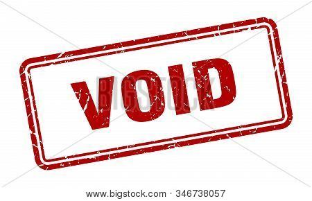 Void Stamp. Void Square Grunge Sign. Void