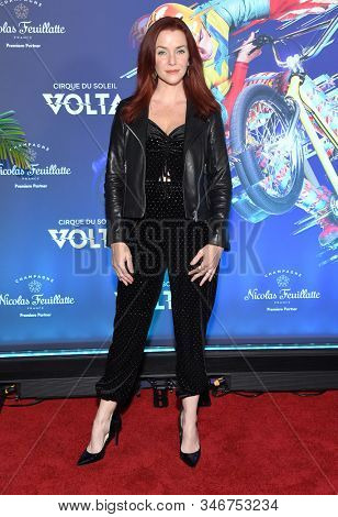 LOS ANGELES - JAN 21:  Annie Wersching arrives for the Cirque du Soleil's VOLTA Los Angeles Premier on January 21, 2020 in Los Angeles, CA