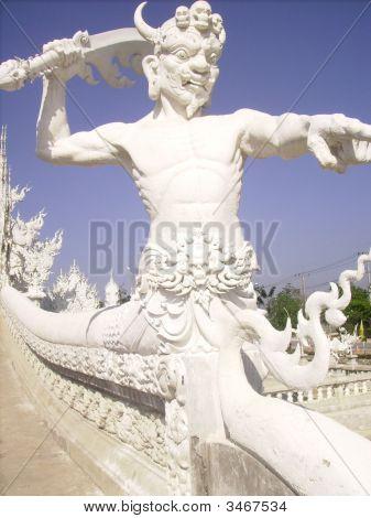 Thai Fierce Looking Gargoyle.