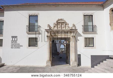 Coimbra, Portugal - Sept 6th 2019: Machado De Castro National Museum Facade, Coimbra, Portugal