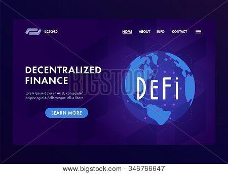 Defi, Decentralized Finance - Open-source Community Of Projects On Blockchain, That Develops Solutio