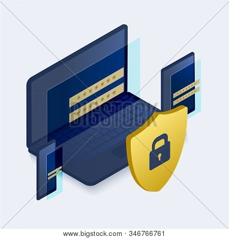 Data Protection Security Concept. Verification Technology For Business, Safety And Confidential Soft