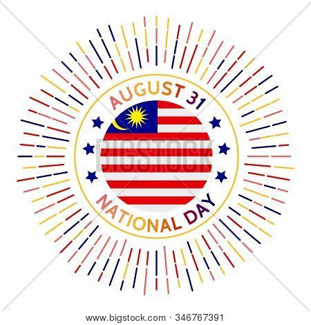 Malaysia National Day Badge. Independence Of The Federation Of Malaya From The United Kingdom In 195