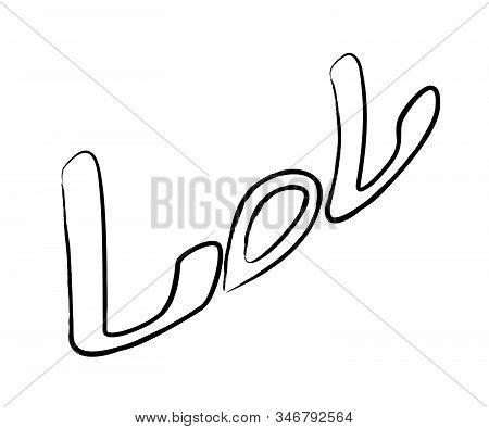 Hand Drawn Word. Brush Pen
