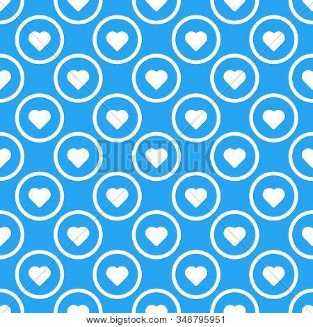 Love Hearts Seamless Pattern Vector Illustration.
