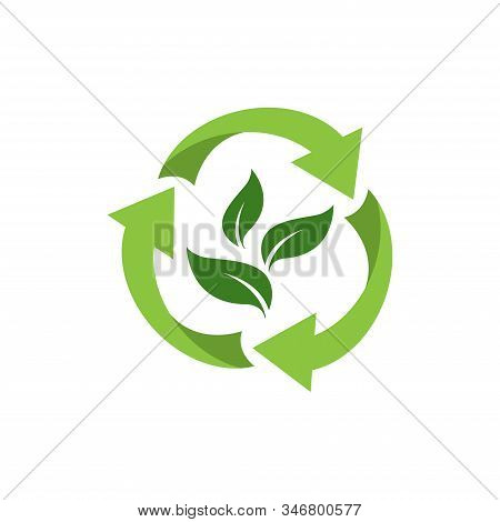 Recycle Icon, Recycle Recycling Symbol. Vector Illustration. Isolated On White Background.