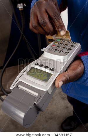 Swipe card for fuel