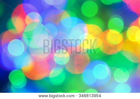 Led Lights Background. Bokeh Background. Led Bokeh Background. Abstract Background For Web Template.