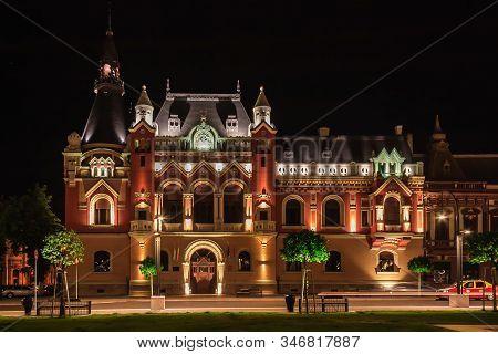 Greek Catholic Palace In The Center Of Oradea At Night