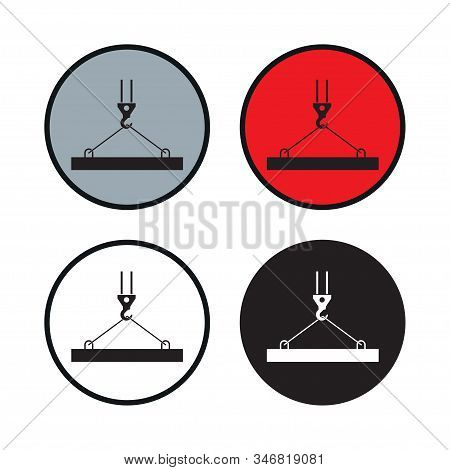 Pictograph Crane Hook, Lifting Work, Crane, Installation Works