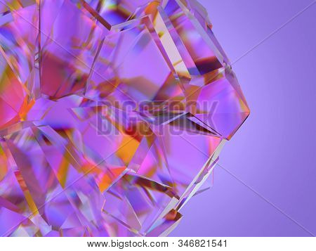 shattered glass, abstract background, 3d illustration