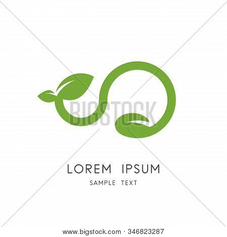 Seed And Sprout Logo - Grain Or Bean, Stem, Leaves And Green Plant Symbol. New Life In Nature, Agric