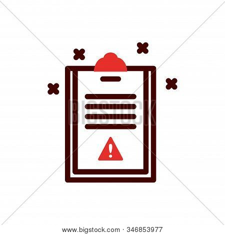Document With Alarm Symbol Design, Emergency Rescue Save Department 911 Danger Help Safety And Aid T