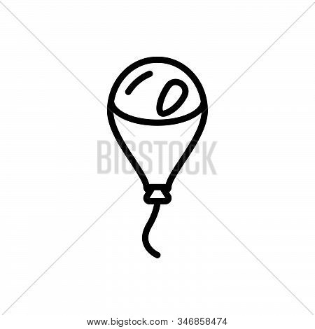 Black Line Icon For Balloon Spectacular Wonderful Blooming Helium Fly