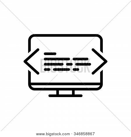 Black Line Icon For Programming Coding Ios Software Technology Html Optimization