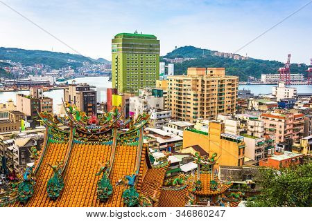Keelung, Taiwan downtown cityscape in the afternoon.