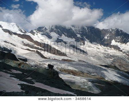 Glaciers Above Saas-Fee