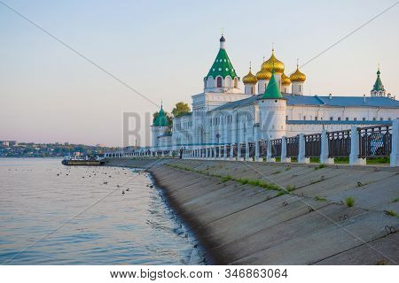 September Evening At The Old Ipatievsky Holy Trinity Monastery. Kostroma, Golden Ring Of Russia