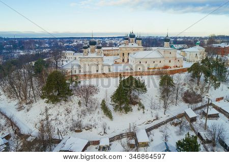 Holy Trinity Makaryevo-unzhensky Monastery On A January Day (shooting From A Quadrocopter). Makaryev