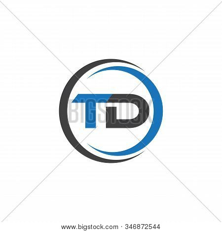 Td Or Dt Initial Luxury Ornament Monogram Logo