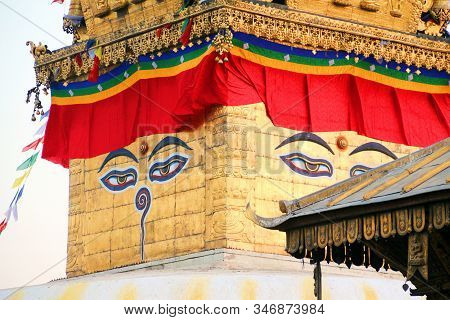 Eyes At Swayambhunath Stupa