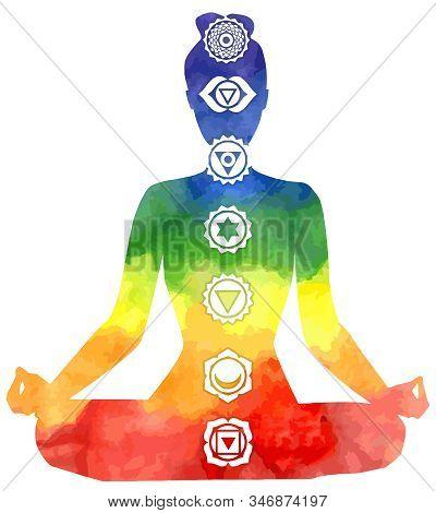 Yoga Healing Chakras Mindfulness Spiritual Meditation Mantra Illustration  Kundalini