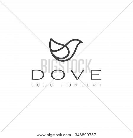 Dove Logo Bird Freedom Peace Love Nature Wellness Symbol Hope Pigeon Illustration Feather Wing Purit