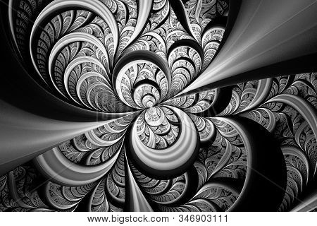 Beautiful Exotic Pattern.3d Surreal Illustration.sacred Geometry.mysterious Relaxation Pattern.fract