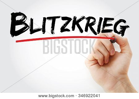 Blitzkrieg - Text With Marker, Concept Background