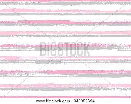 Casual Stripes Interior Wallpaper Seamless Pattern. Dry Ink Art Lines Background. Interior Tableclot