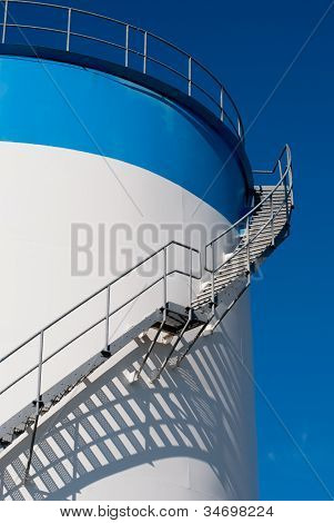 Maintenance Ladder On A Oil Tank