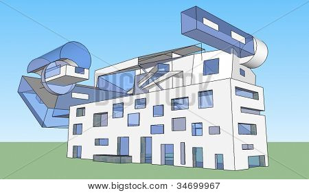 house with many glass windows