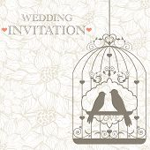 This is vector pattern for wedding invitation poster