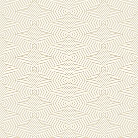 Golden Vector Geometric Seamless Pattern With Stars, Thin Lines, Grid. Simple Gold And White Geometr