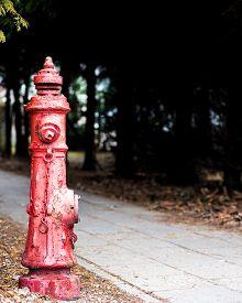 Red Fireplug On The Street - Fire Brigade, Fire Prevention