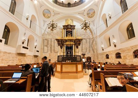 The Hurva Synagogue In Jerusalem