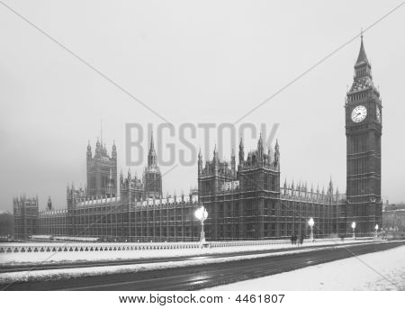Big Ben In Snow