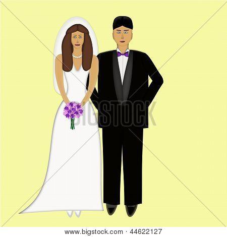 Wedding Couple Both Caucasian