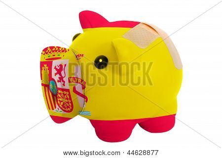 Closed Piggy Rich Bank With Bandage In Colors