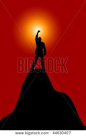 Silhouette Of  Winner