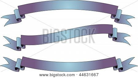 Purple-blue ribbon