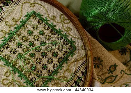 Green Embroidery
